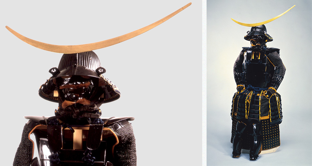 1 Black lacquered armor with five-pieced cuirass (owned by DATE Masamune)