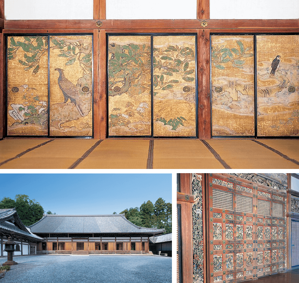 12 Zuiganji temple (Main building, Priest's kitchen and corridor, Paintings on room partitions)