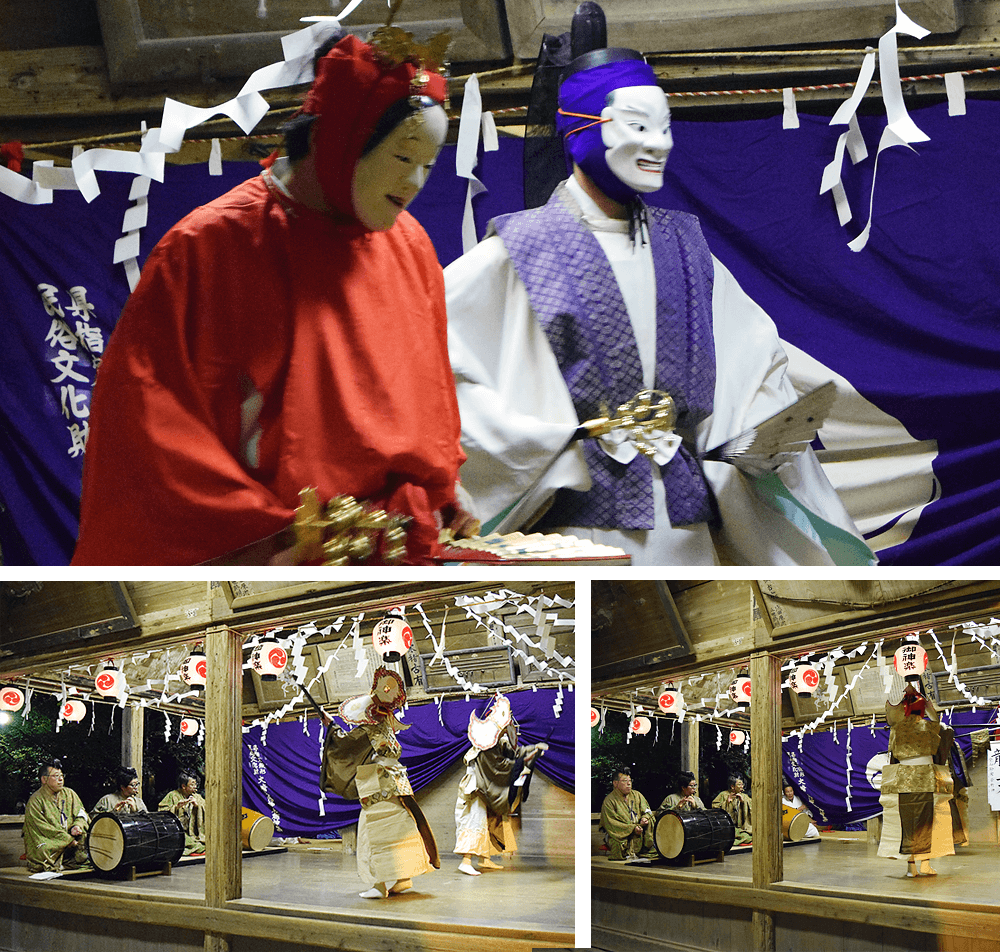 36 Noh Kagura Dance at Osaki Hachimangu shrine