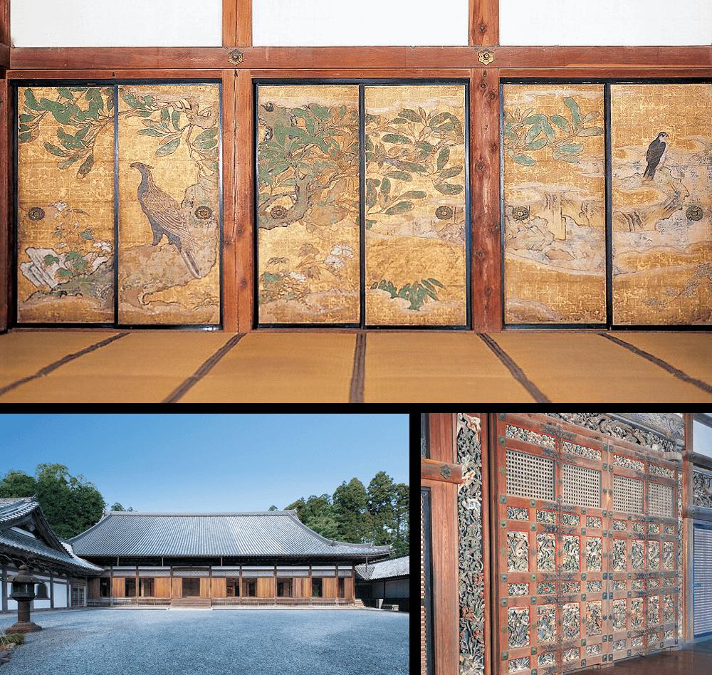 12 ซุยกันจิ (ฮนโด คุริและระเบียง ภาพวาดบนฉากกั้น)