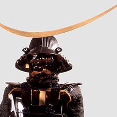 1 ชุดเกราะดำเคลือบเงาครบชุด 5 ชิ้น <br>[ของดาเตะมาซามุเนะ]