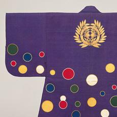 2 เสื้อคลุมประจำเจ้าครองเมืองเซนไดในแต่ละรุ่น (เสื้อคลุมจินบะโอริลายจุด)