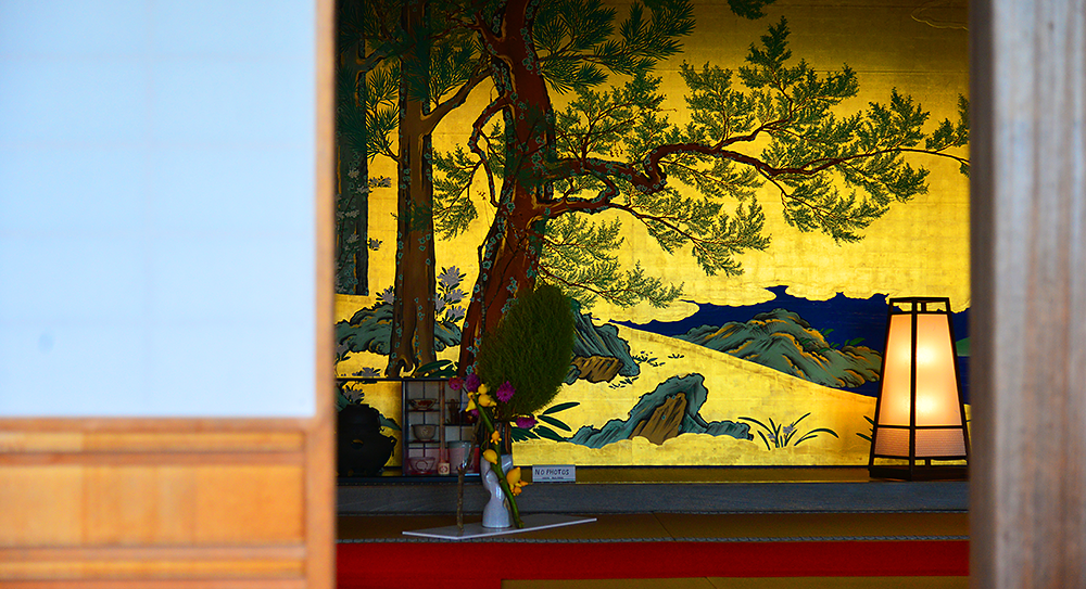 Kanrantei Tea House and partition paintings