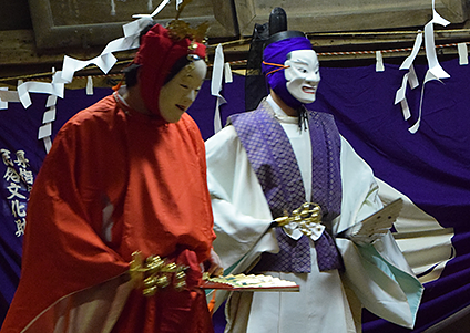 Noh Kagura Dance at Osaki Hachimangu shrine